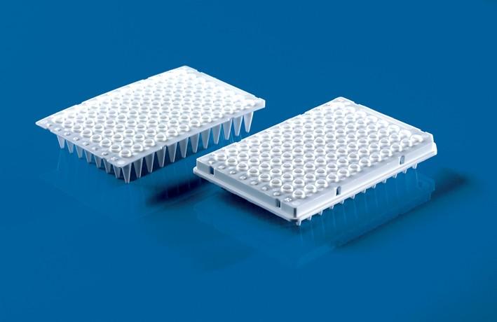 96-Well PCR-Platten, mit halbem Rahmen, 0,2ml, weiß