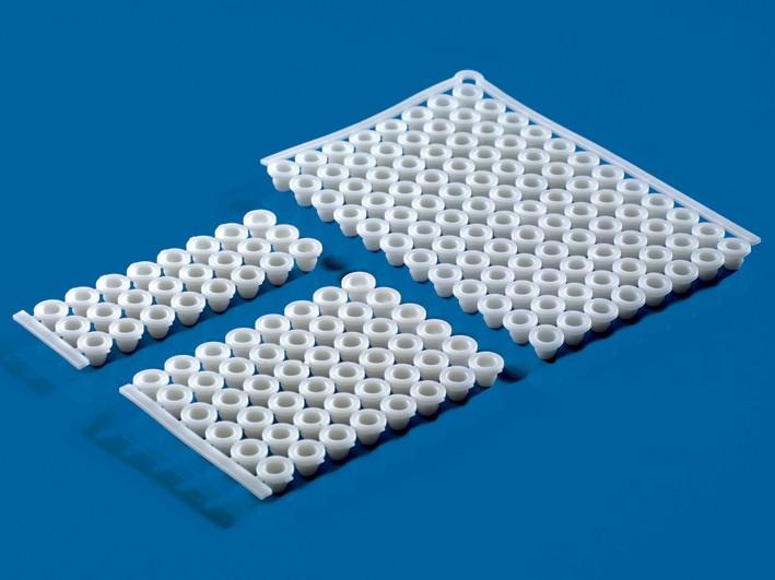 96-Well PCR Verschlussmatten f, Best,-Nr,: 5409381 u, 5380804, Pck à 5