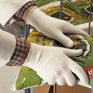 proFood Insulated Wärmeschutz-Strickhandschuhe, Gr,M, weiß