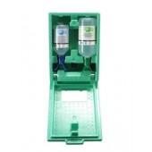 Augen-Notfallstation, in Wandbox, 1 x 1l Natiumchloridlösung + 1 x 0,5l Phosphatpufferlösung