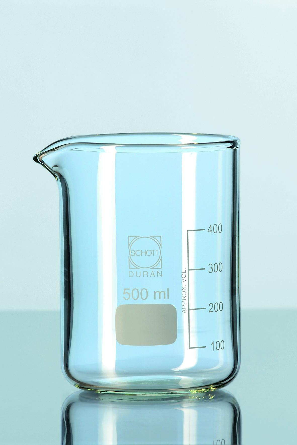 Beaker, Duran, low form, cap. 600 ml