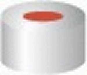 Aluminium crimp caps, N 20 TS/oA ASM bimetal, magnetic with sealing disk, silicone / PTFE, cream / grey