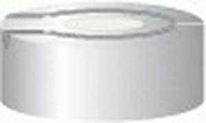 Aluminium crimp caps, N20 TS/HS, with burst protection and sealing disks, silicone / PTFE, cream / grey, pack of 100
