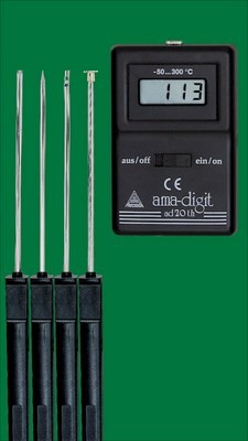 Electronic digital thermometer   ama-digit ad 20 th  , - 50 to + 300 °C, without temperature probes