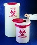 Biohazard waste container