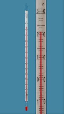 Low temperature laboratoty thermometer
