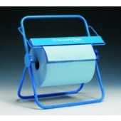 Dispenser for large wipe rolls, wall (330 x 515 x 330 mm) and table (500 x 515 x 300 mm) mount, metal, blue