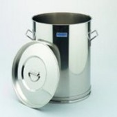 Container, st. steel, without lid, capacity 20 l