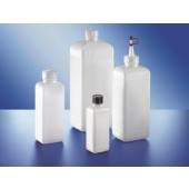 Bottle, wide mouth, PEHD, square, without screw cap, capacity 4000 ml