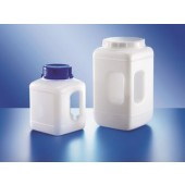 Container, wide mouth, PEHD, square, with hand-grip, without screw cap, cap. 2300 ml