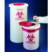 Biohazard waste container, PP, 19 l, 280 x 380 mm