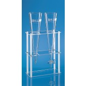 Rack for 2 Imhoff sedimentation cones, PMMA / PP