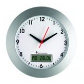 Radio controlled wall clock analogue / digital