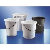 Bucket, PELD, white, without spout, capacity 10 l