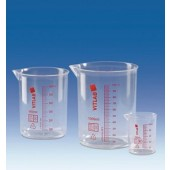 Beaker, Griffin, PMP, red graduation, capacity 2000 ml