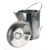 Bucket, graduated, steel 18 / 10, capacity 15 l, without lid