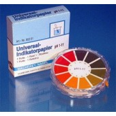 Universal indicator paper, pH 1 to 11, roll of 5 m