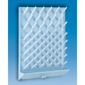 Draining rack, PS, with 72 rods, 450 x 630 mm