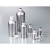 Alu bottle, with screw cap, capacity 120 ml