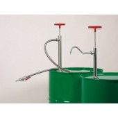 Barrel pump, stainless steel, with discharge pipe, immersion depth 360 mm