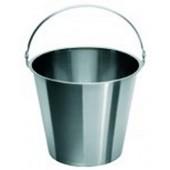 Bucket, with handle, st. steel, graduated